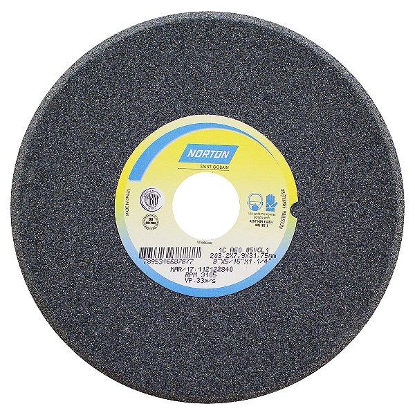 Caixa com 5 Rebolo Afiação de Serras Óxido de Alumínio Cinza Chanfrado 203,20 x 7,90 x 31,75 mm A60O5VC1