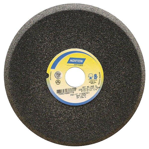 Caixa com 5 Rebolo Afiação de Serras Óxido de Alumínio Cinza Chanfrado 228,60 x 12,70 x 31,75 mm A46O5VC1