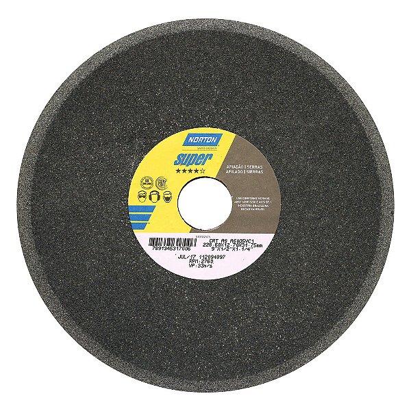 Rebolo Afiação de Serras Óxido de Alumínio Cinza Chanfrado 228,60 x 12,70 x 31,75 mm A60O5VC1 Caixa com 5
