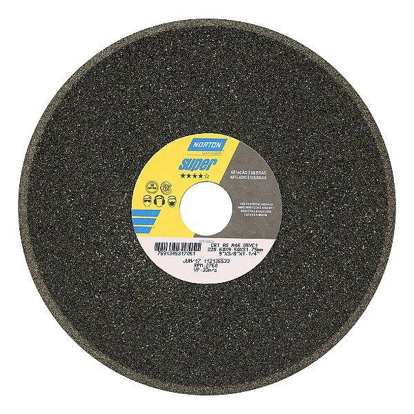 Caixa com 5 Rebolo Afiação de Serras Óxido de Alumínio Cinza Chanfrado 228,60 x 9,50 x 31,75 mm A46O5VC1
