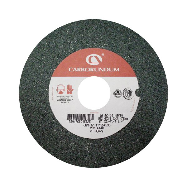 Caixa com 10 Rebolo Afiação e Retíficação Ferramentas de Metal Duro Widia 152,4 x 19,0 x 31,75 mm 1A GC100 K5VGW