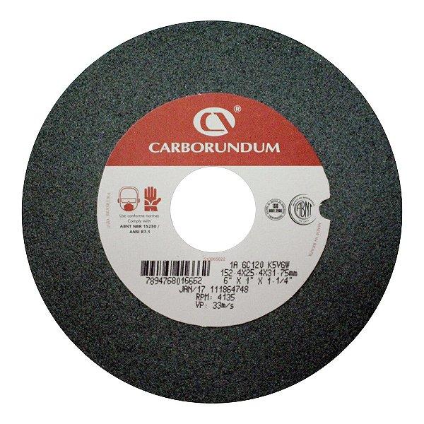 Caixa com 10 Rebolo Afiação e Retíficação Ferramentas de Metal Duro Widia 152,4 x 25,4 x 31,75 mm 1A GC120 K5VGW