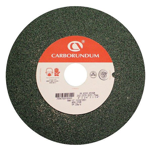 Caixa com 5 Rebolo Afiação e Retíficação Ferramentas de Metal Duro Widia 203,2 x 19,0 x 31,75 mm 1A GC80 K5VGW