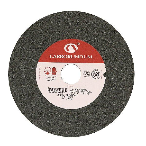 Caixa com 5 Rebolo Afiação e Retíficação Ferramentas de Metal Duro Widia 203,2 x 25,4 x 31,75 mm 1A GC80 K5VGW