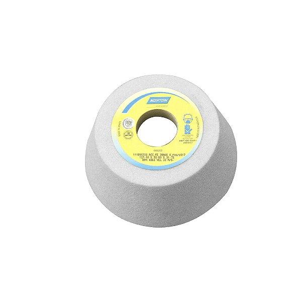 Caixa com 4 Rebolo Afiação e Retíficação Óxido de Alumínio Branco Copo Cônico 127 x 50,8 x 31,75 mm ACC FE 38A46K