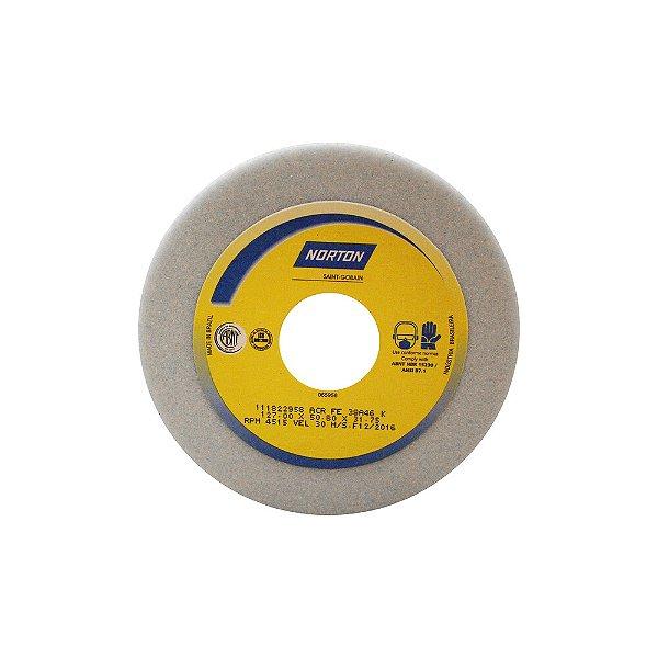Caixa com 4 Rebolo Afiação e Retíficação Óxido de Alumínio Branco Copo Reto 127 x 50,8 x 31,75 mm ACR FE 38A46K