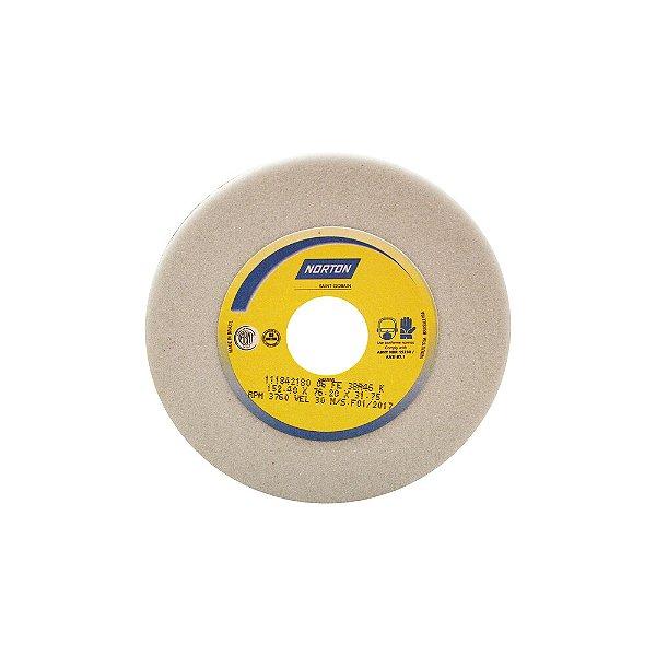 Caixa com 4 Rebolo Afiação e Retíficação Óxido de Alumínio Branco Copo Reto 152,4 x 76,0 x 31,75 mm ACR FE 38A46K