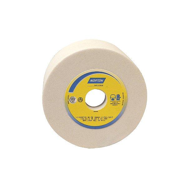 Caixa com 4 Rebolo Afiação e Retíficação Óxido de Alumínio Branco Copo Reto 152,4 x 76,0 x 31,75 mm ACR FE 38A60K