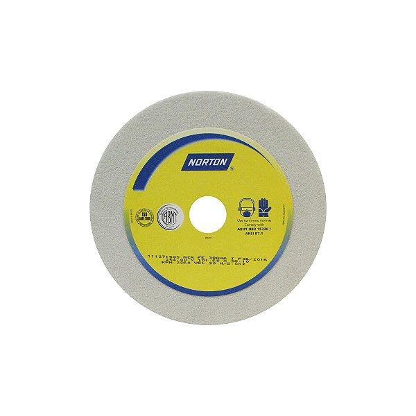 Caixa com 2 Rebolo Afiação e Retíficação Óxido de Alumínio Branco Copo Reto 254,0 x 101,6 x 38,10 mm ACR FE 38A46I