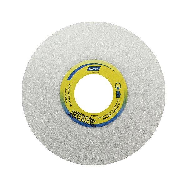 Caixa com 3 Rebolo Afiação e Retíficação Óxido de Alumínio Branco Prato 127 x 12,70 x 31,75 mm FE 38A60K