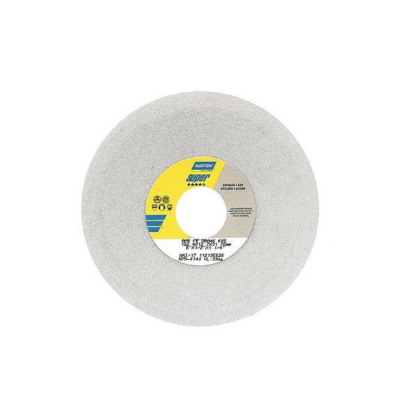 Rebolo Afiação e Retíficação Óxido de Alumínio Branco Prato 152,40 x 12,70 x 31,75 mm FE 38A46KVS Caixa com 3