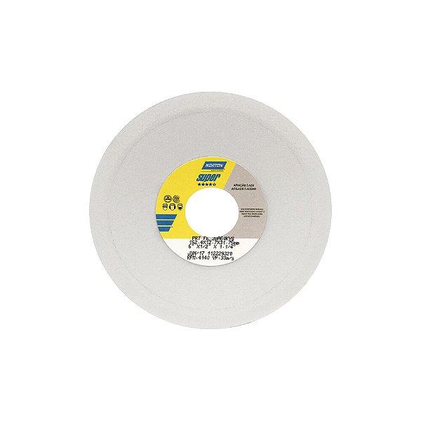 Rebolo Afiação e Retíficação Óxido de Alumínio Branco Prato 152,40 x 12,70 x 31,75 mm FE 38A60KVS Caixa com 3