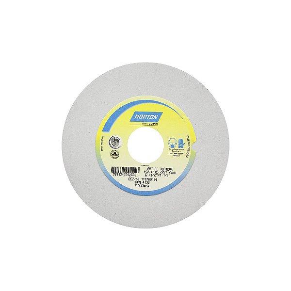 Caixa com 3 Rebolo Afiação e Retíficação Óxido de Alumínio Branco Reto 152,40 x 12,70 x 31,75 mm FE 38A120KVS