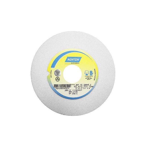 Caixa com 3 Rebolo Afiação e Retíficação Óxido de Alumínio Branco Reto 152,40 x 12,70 x 31,75 mm FE 38A46KVS