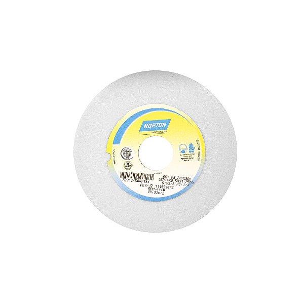 Rebolo Afiação e Retíficação Óxido de Alumínio Branco Reto 152,40 x 9,50 x 31,75 mm FE 38A120KVS Caixa com 3