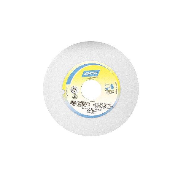 Rebolo Afiação e Retíficação Óxido de Alumínio Branco Reto 152,40 x 9,50 x 31,75 mm FE 38A80KVS Caixa com 3