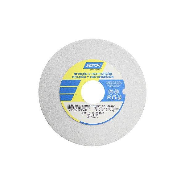 Rebolo Afiação e Retíficação Óxido de Alumínio Branco Reto 152,4 x 19,0 x 31,75 mm ART FE 38A46K Caixa com 3