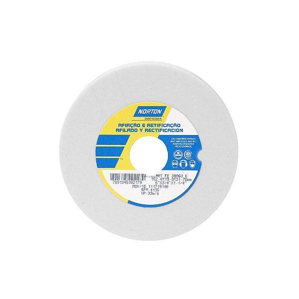 Caixa com 3 Rebolo Afiação e Retíficação Óxido de Alumínio Branco Reto 152,4 x 19,0 x 31,75 mm ART FE 38A60K