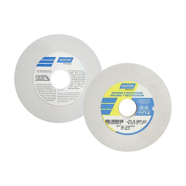Rebolo Afiação e Retíficação Óxido de Alumínio Branco Reto 152,4 x 19,0 x 31,75 mm ART FE 38A80K Caixa com 3