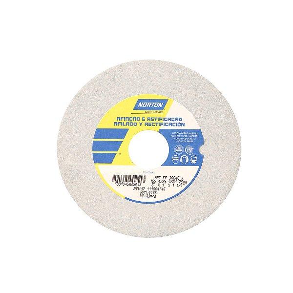 Caixa com 3 Rebolo Afiação e Retíficação Óxido de Alumínio Branco Reto 152,4 x 25,4 x 31,75 mm ART FE 38A46K