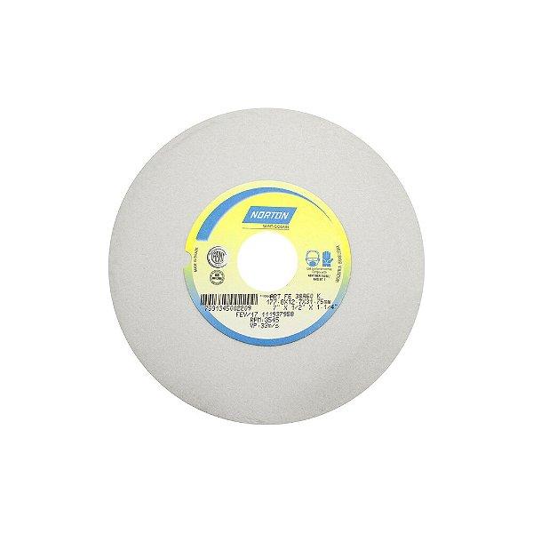 Caixa com 3 Rebolo Afiação e Retíficação Óxido de Alumínio Branco Reto 177,80 x 12,70 x 31,75 mm FE 38A60KVS
