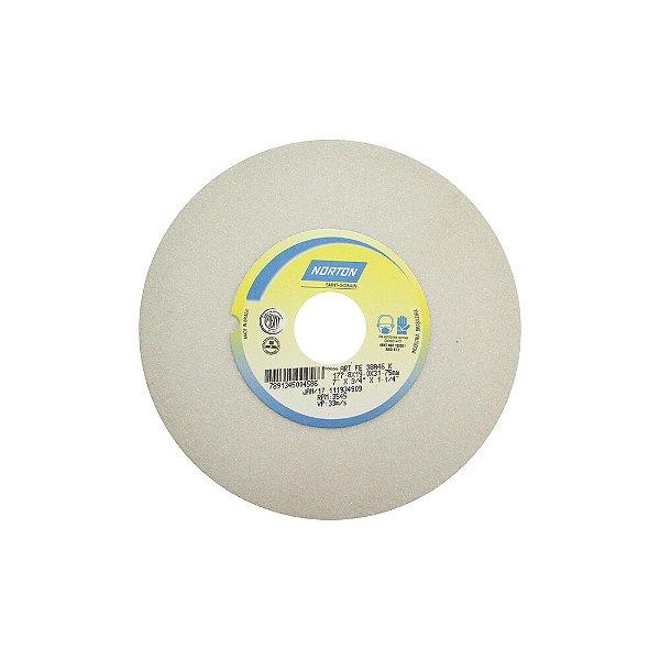 Caixa com 3 Rebolo Afiação e Retíficação Óxido de Alumínio Branco Reto 177,80 x 19 x 31,75 mm FE 38A46KVS