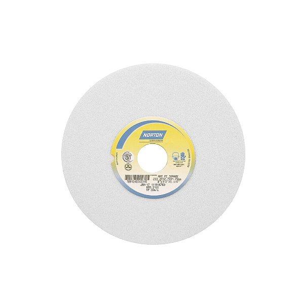 Rebolo Afiação e Retíficação Óxido de Alumínio Branco Reto 203,20 x 12,70 x 31,75 mm FE 38A46KVS Caixa com 3