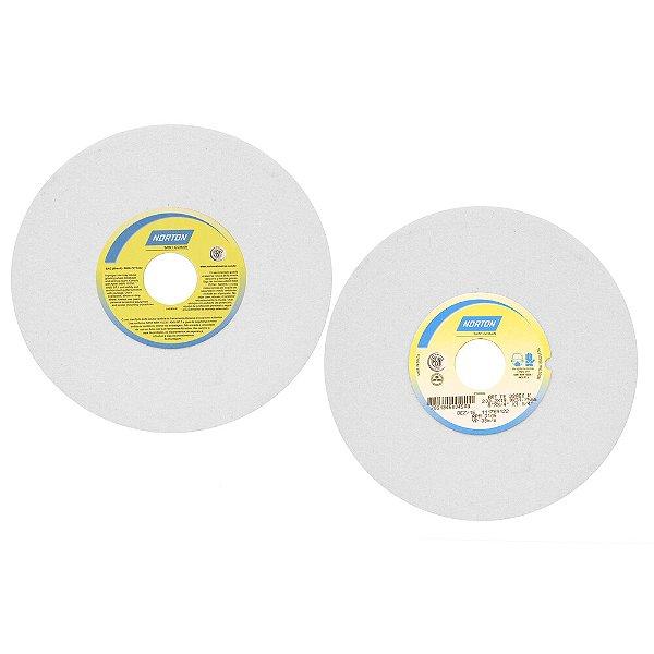 Caixa com 3 Rebolo Afiação e Retíficação Óxido de Alumínio Branco Reto 203,20 x 19 x 31,75 mm FE 38A60KVS