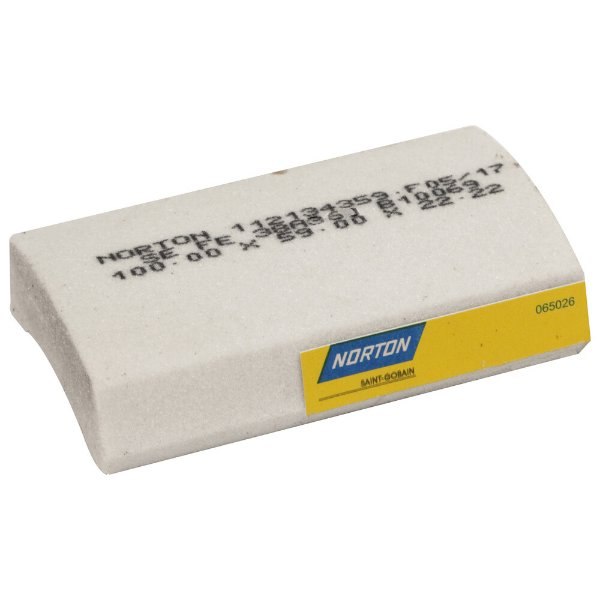 Caixa com 12 Rebolo Afiação e Retíficação Óxido de Alumínio Branco Segmentos 100 x 59 x 22,22 mm FE 38A36J B10069