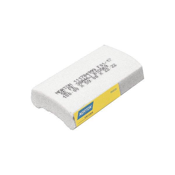 Caixa com 12 Rebolo Afiação e Retíficação Óxido de Alumínio Branco Segmentos 100 x 59 x 22,22 mm FE 38A46J B10069