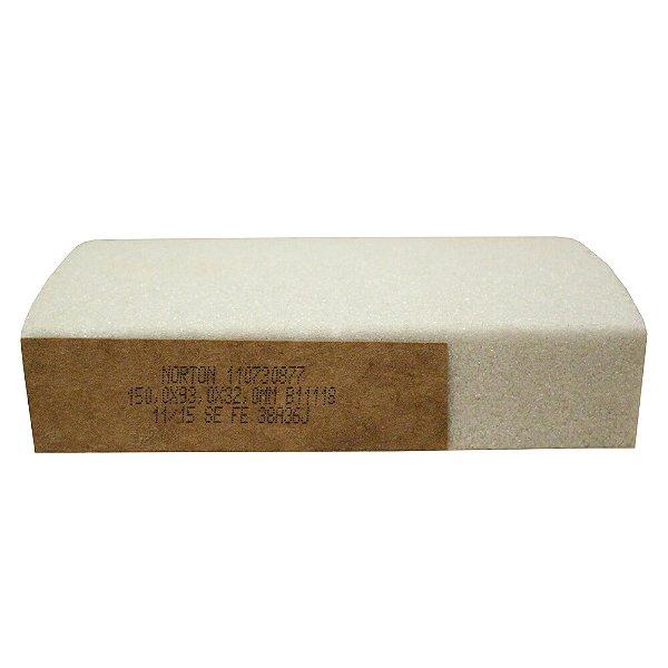 Caixa com 8 Rebolo Afiação e Retíficação Óxido de Alumínio Branco Segmentos 150 x 93 x 32 mm FE 38A36J B11118