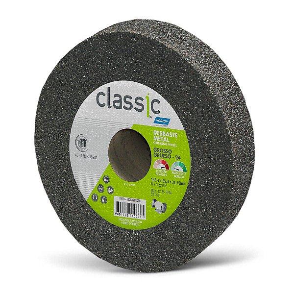 Rebolo Desbaste Metal Classic Grosso 152,4 x 25,4 x 31,75 mm A24 R VCL Caixa com 10