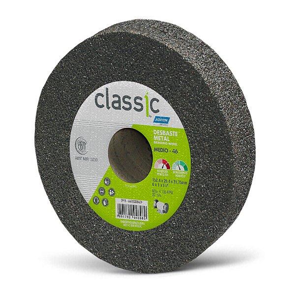 Caixa com 10 Rebolo Desbaste Metal Classic Grosso 152,4 x 25,4 x 31,75 mm A46 R VCL