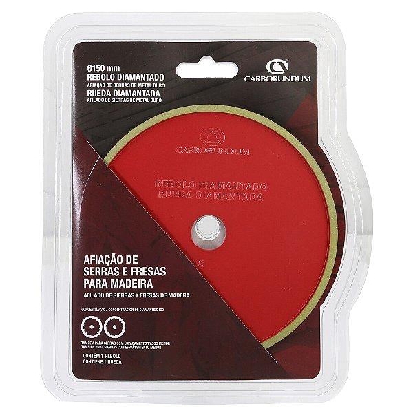 Caixa com 2 Rebolo Diamantado para Afiação de Serras e Fresas de Madeira - 150 mm