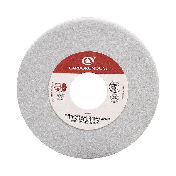 Caixa com 4 Rebolo Ferramentaria Óxido de Alumínio Branco Copo Reto 127 x 63,5 x 31,75 mm 6A AA46 K8V40W
