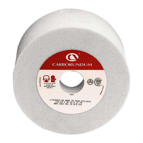 Caixa com 3 Rebolo Ferramentaria Óxido de Alumínio Branco Copo Reto 152,4 x 76,2 x 31,75 mm 6A AA46 K8V40W