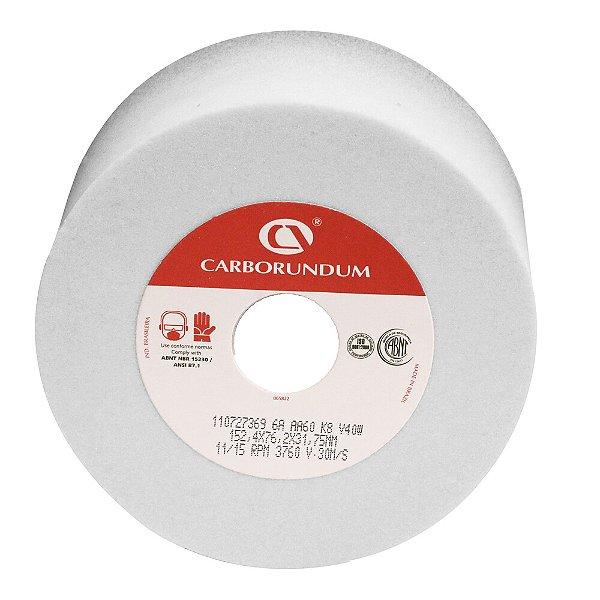 Caixa com 3 Rebolo Ferramentaria Óxido de Alumínio Branco Copo Reto 152,4 x 76,2 x 31,75 mm 6A AA60 K8V40W