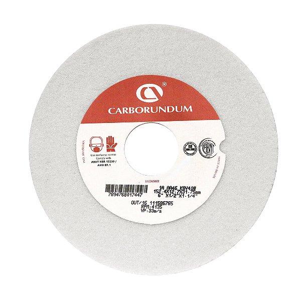 Caixa com 15 Rebolo Ferramentaria Óxido de Alumínio Branco Reto 152,4 x 12,7 x 31,75 mm 1A AA46 K8V40W