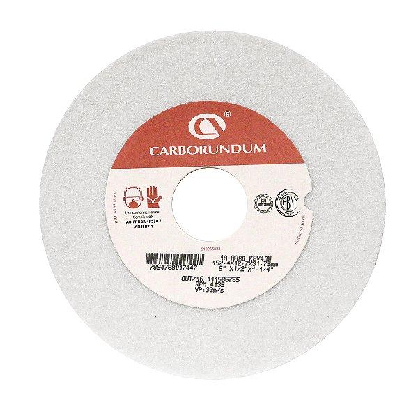 Caixa com 15 Rebolo Ferramentaria Óxido de Alumínio Branco Reto 152,4 x 12,7 x 31,75 mm 1A AA80 K8V40W