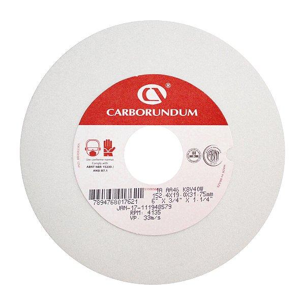 Caixa com 10 Rebolo Ferramentaria Óxido de Alumínio Branco Reto 152,4 x 19,0 x 31,75 mm 1A AA46 K8V40W