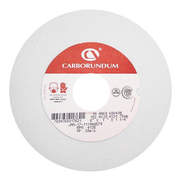 Caixa com 10 Rebolo Ferramentaria Óxido de Alumínio Branco Reto 152,4 x 25,4 x 31,75 mm 1A AA46 K8V40W