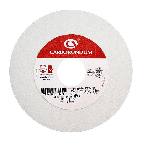 Rebolo Ferramentaria Óxido de Alumínio Branco Reto 152,4 x 25,4 x 31,75 mm 1A AA60 K8V40W Caixa com 10