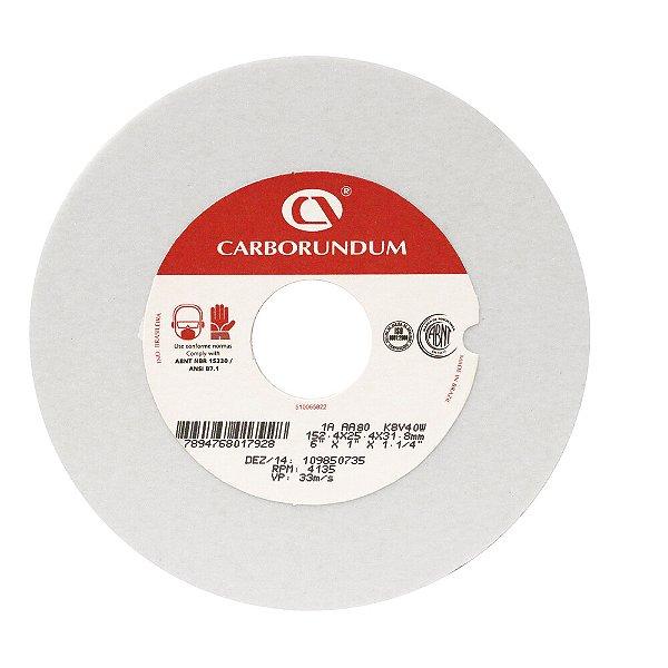 Rebolo Ferramentaria Óxido de Alumínio Branco Reto 152,4 x 25,4 x 31,75 mm 1A AA80 K8V40W Caixa com 10