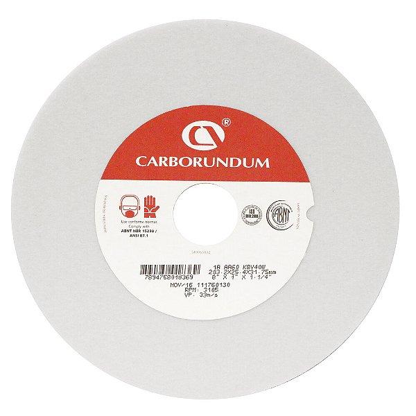 Caixa com 5 Rebolo Ferramentaria Óxido de Alumínio Branco Reto 203,2 x 25,4 x 31,75 mm 1A AA60 K8V40W