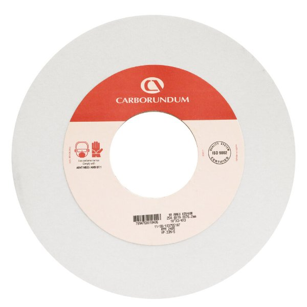 Rebolo Ferramentaria Óxido de Alumínio Branco Reto 254,0 x 19,0 x 76,20 mm 1A AA60 K8V40W Caixa com 3