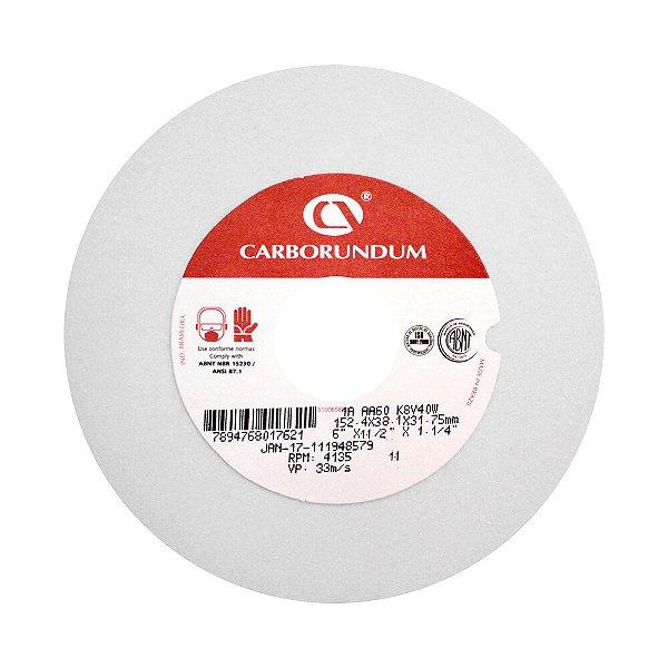 Caixa com 1 Rebolo Ferramentaria Óxido de Alumínio Branco Reto 355,6 x 38,1 x 127,00 mm 1A AA60 K8V40W