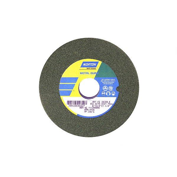 Caixa com 3 Rebolo Metal Duro Carberto de Silício Verde Reto 152,4 x 19,0 x 31,75 mm ART FE 39C80K