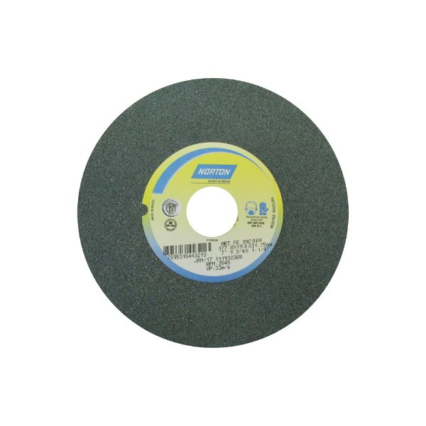 Caixa com 3 Rebolo Metal Duro Carbeto de Silício Verde Reto 177,80 x 19 x 31,75 mm 39C80KVK