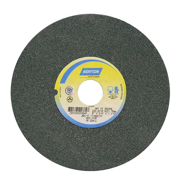 Rebolo Metal Duro Carbeto de Silício Verde Reto 203,20 x 19 x 31,75 mm 39C80KVK Caixa com 3