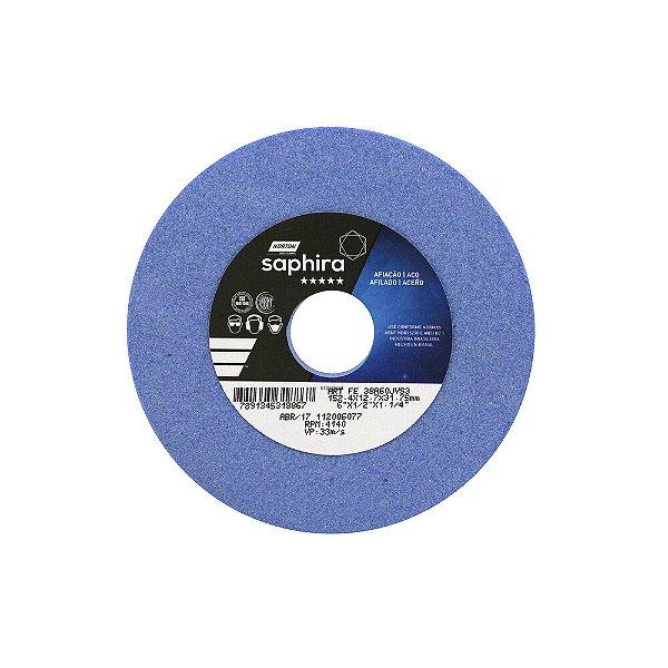 Caixa com 3 Rebolo Saphira Ferramentaria Premium Óxido de Alumínio Cerâmico Reto 152,40 x 12,70 x 31,75 mm 38A60JVS3